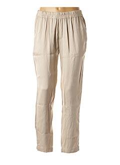 Pantalon 7/8 beige CHARLIE JOE pour femme