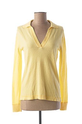 Pull col V jaune ESPRIT pour femme