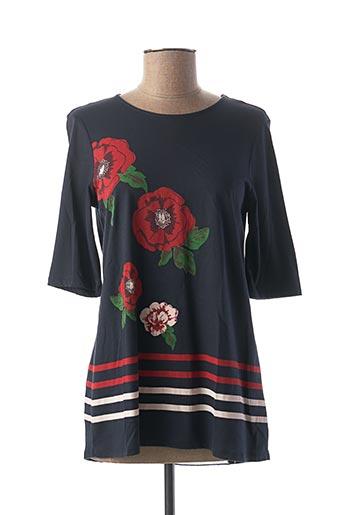 T-shirt manches longues bleu DESIGUAL pour femme