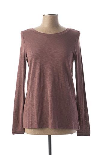 T-shirt manches longues violet ESPRIT DE FAMILLE pour femme