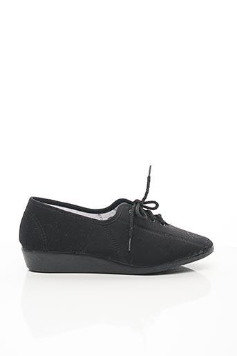 Chaussons/Pantoufles noir SOIR ET MATIN pour femme
