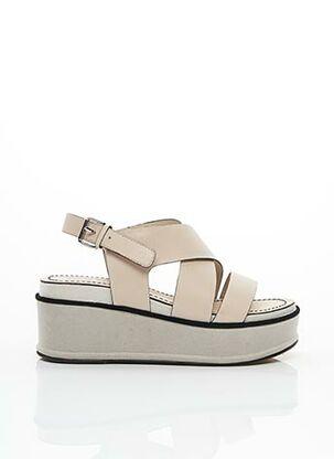 Sandales/Nu pieds beige ELVIO ZANON pour femme