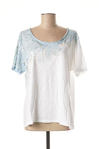 T-shirt manches courtes bleu EVA KAYAN pour femme