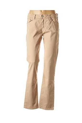 Jeans coupe droite beige DENIM STUDIO pour femme