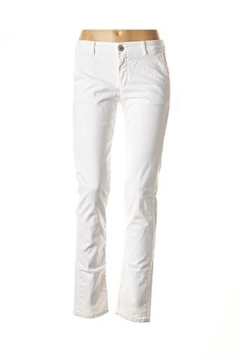 Pantalon casual blanc DENIM STUDIO pour femme