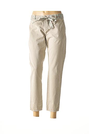 Pantalon 7/8 beige SUD EXPRESS pour femme
