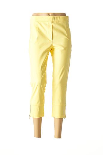 Pantalon 7/8 jaune HALOGENE pour femme