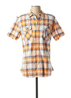 Chemise manches courtes orange DIESEL pour homme