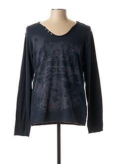 T-shirt manches longues bleu FREESOUL pour homme