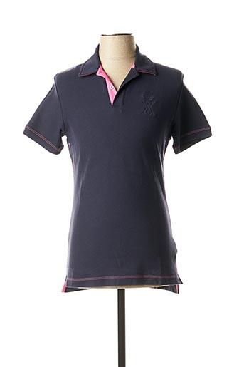 Polo manches courtes bleu VICOMTE ARTHUR pour homme
