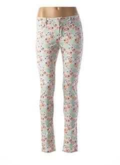 Pantalon casual bleu B.YOUNG pour femme