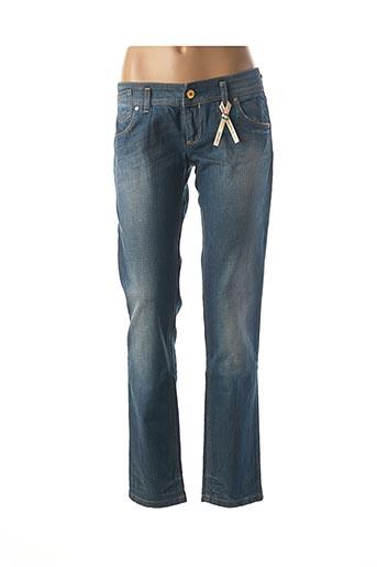 Jeans coupe droite bleu FREESOUL pour femme