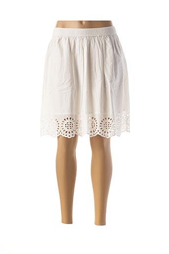 Jupe mi-longue blanc FRANSA pour femme