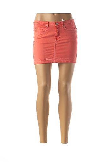 Mini-jupe orange MILA BRANT pour femme