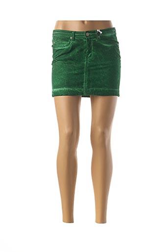 Mini-jupe vert MILA BRANT pour femme