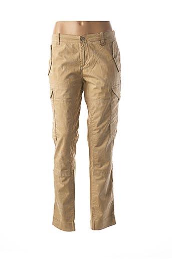 Pantalon casual beige FREESOUL pour femme