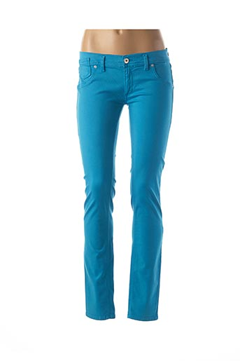 Pantalon casual bleu FREESOUL pour femme