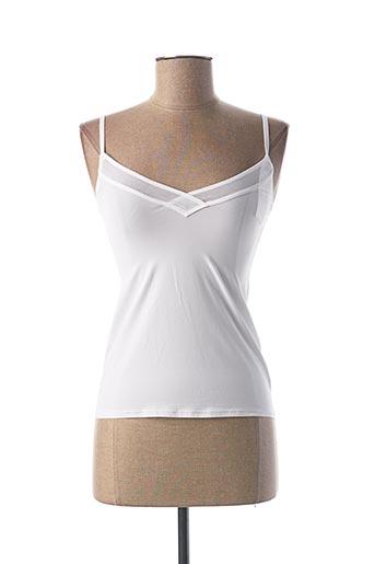 Top/Caraco blanc SLOGGI pour femme