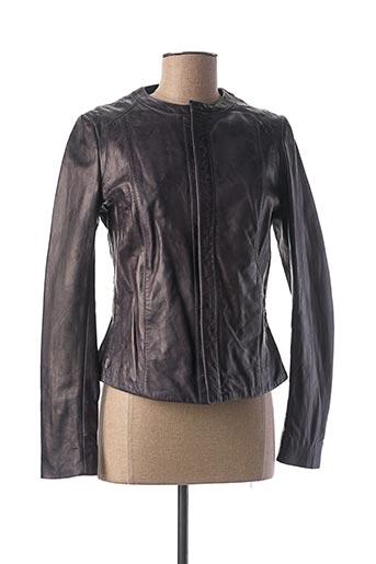 Veste en cuir bleu KAPORAL pour femme