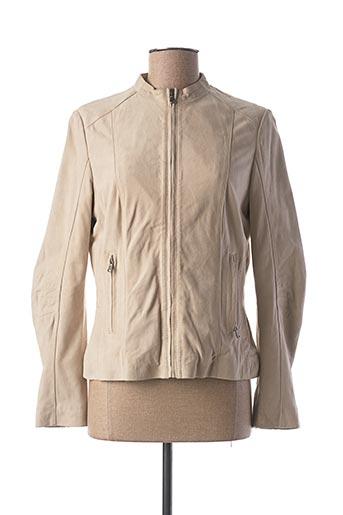 Veste en cuir beige KAPORAL pour femme
