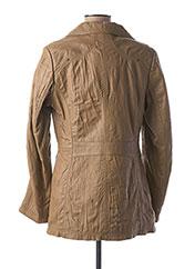 Veste en cuir beige DAYTONA pour femme seconde vue