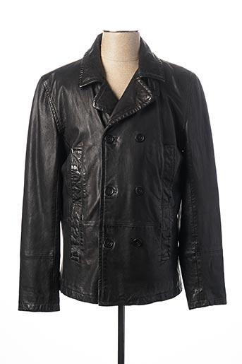Veste en cuir noir BILLTORNADE pour femme