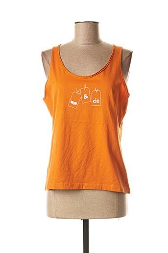 Débardeur orange ET COMPAGNIE pour femme