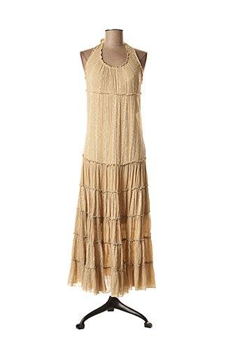 Robe longue beige LA FEE MARABOUTEE pour femme