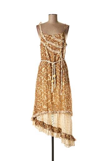 Robe longue beige POUSSIERE D'ETOILE pour femme