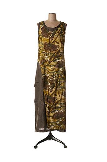 Robe longue gris LAUREN VIDAL pour femme