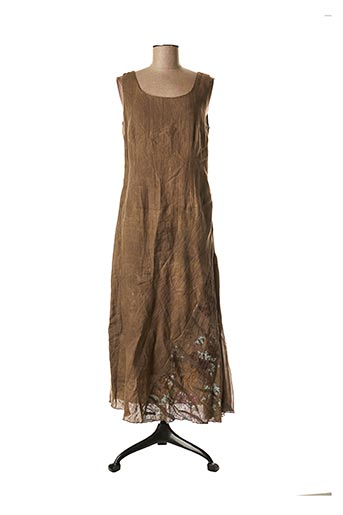 Robe longue marron COCO MENTHE pour femme
