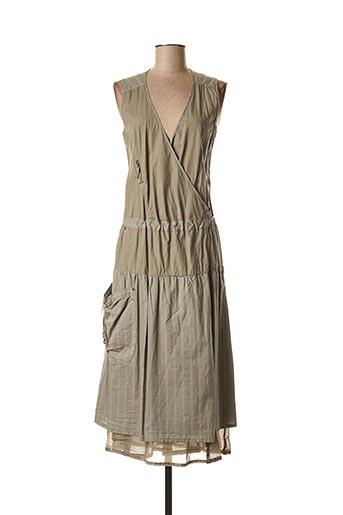 Robe mi-longue gris BANDE ORIGINALE pour femme