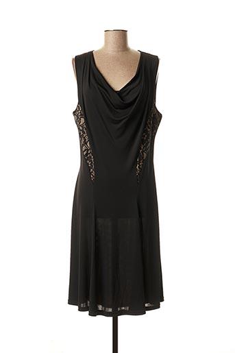 Robe mi-longue noir JUS D'ORANGE pour femme