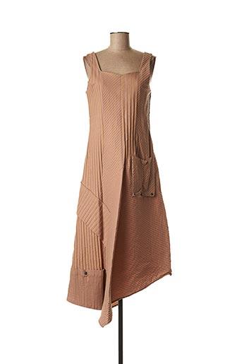 Robe mi-longue rose LAUREN VIDAL pour femme