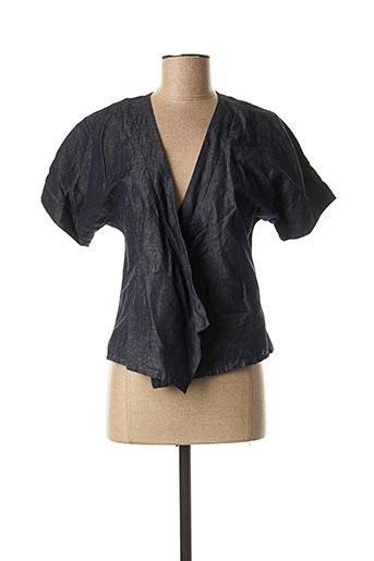 Veste casual bleu CHATTAWAK pour femme