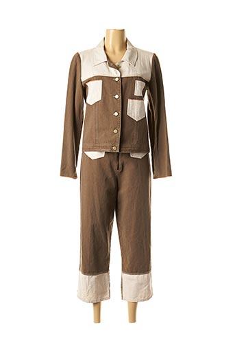 Veste/pantalon marron ROSA ROSAM pour femme