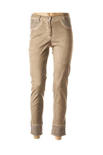 Pantalon casual beige MALOKA pour femme