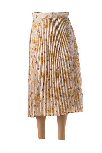 Jupe mi-longue jaune MOLLY BRACKEN pour femme