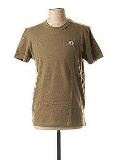 T-shirt manches courtes vert SERGE BLANCO pour homme