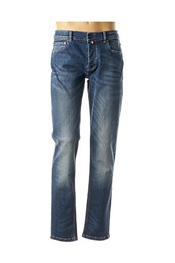Jeans coupe droite rose SERGE BLANCO pour homme