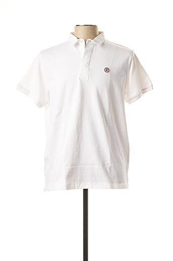 Polo manches courtes blanc SERGE BLANCO pour homme