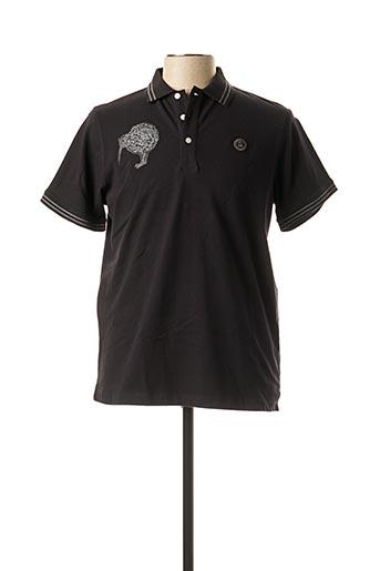 Polo manches courtes noir SERGE BLANCO pour homme