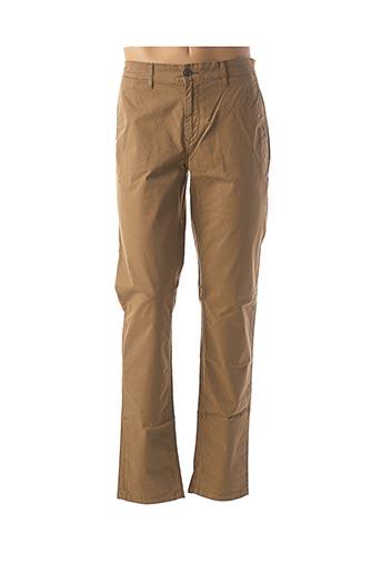Pantalon casual beige SERGE BLANCO pour homme
