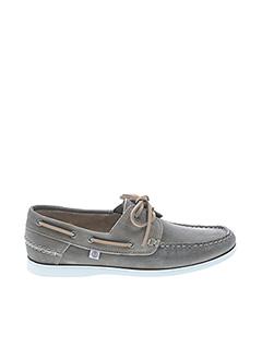 Chaussures bâteau beige SERGE BLANCO pour homme