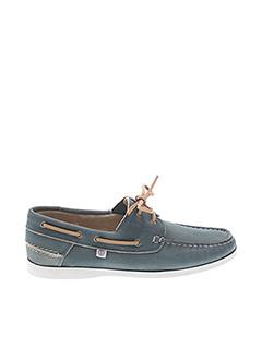 Chaussures bâteau bleu SERGE BLANCO pour homme