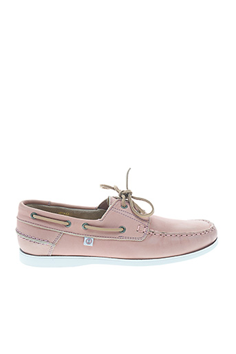 Chaussures bâteau rose SERGE BLANCO pour homme