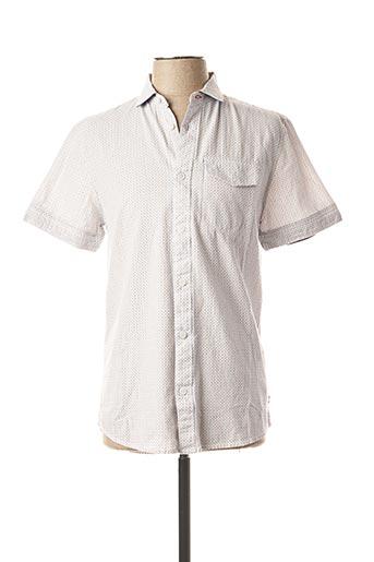 Chemise manches courtes blanc PETROL INDUSTRIES pour homme