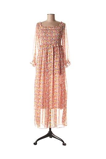 Robe longue rose LILI SIDONIO pour femme