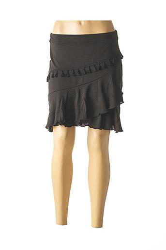 Jupe mi-longue noir COLINE pour femme