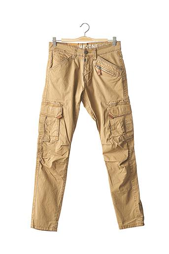 Pantalon casual beige TIMEZONE pour homme